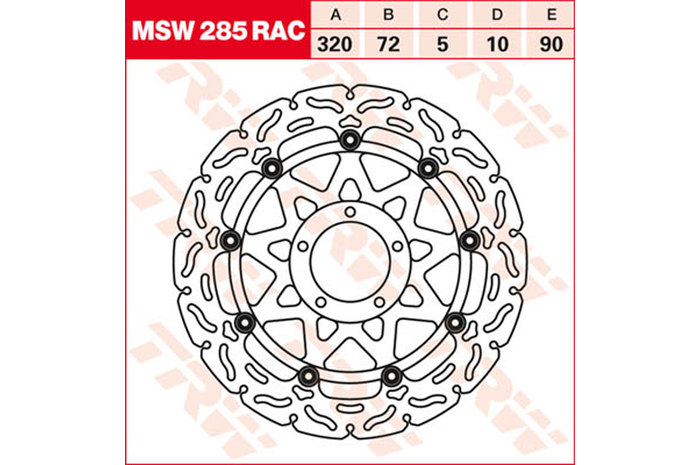 TRW ティーアールダブル BRAKE-DISCS RACING [MSW285RAC]