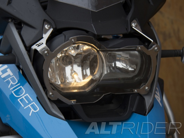 AltRider アルトライダー ガード・スライダー Clear Headlight Guard カラー:Silver R 1200 GS / Rallye / Exclusive Water Cooled R1200GSW Adventure