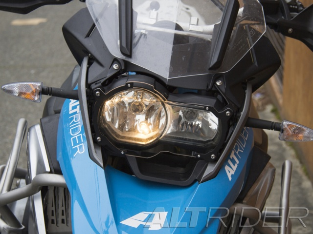 AltRider アルトライダー ガード・スライダー Clear Headlight Guard カラー:Black R 1200 GS / Rallye / Exclusive Water Cooled R1200GSW Adventure