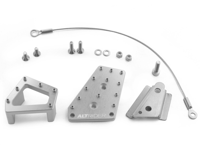 AltRider アルトライダー その他ステップパーツ DualControl Brake Enlarger with Riser and Brake Snake Kit カラー:Silver サイズ:22mm