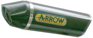 ARROW アロー スリップオンマフラー サイレンサー素材:チタン/カーボンエンド仕様 (TiRSC.a) CB600F HORNET 07-13
