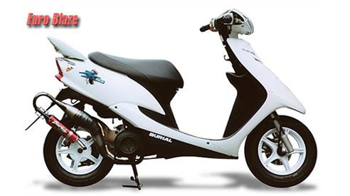 BURIAL ベリアル その他マフラーパーツ リペアーサイレンサー サイレンサーカラー:シルバー 50ccスクーター用ユーロブレイズ