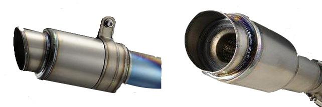 アサヒナレーシング ASAHINA RACING スリップオンマフラー エグテック GP スタイルサイレンサー インナー径:38mm スプリング位置:横 差込み径:60.5mm