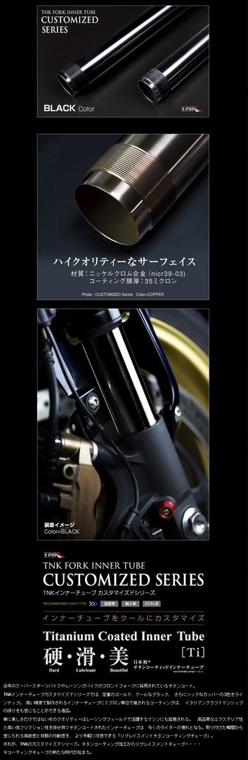 TNK ティーエヌケー その他サスペンションパーツ インナーチューブ カスタマイズドシリーズ MONSTER 695 06-07