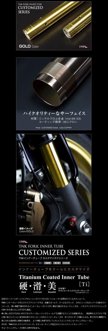 TNK ティーエヌケー その他サスペンションパーツ インナーチューブ カスタマイズドシリーズ LIGHTNING X1 [ライトニング] 01