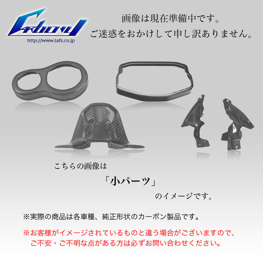 Carbony カーボニー ビキニカウル・バイザー ドライカーボン ヘッドライトカバー 仕上げ:ツヤ有り 仕様:ブロックカーボン RZ250LC