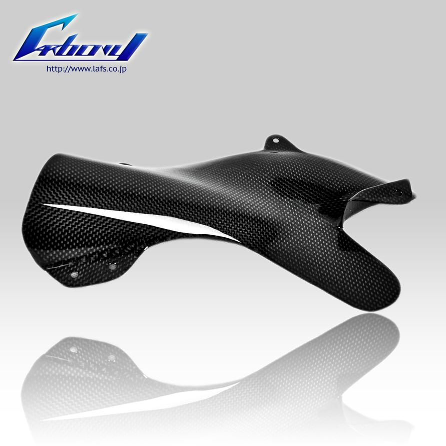 Carbony カーボニー ガード・スライダー ドライカーボン マフラーヒートガード 仕上げ:ツヤ消し 仕様:ブルーカーボン ZX-10R 2006-2007
