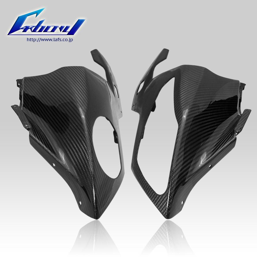 Carbony カーボニー ドライカーボン アッパーカウル 仕上げ:ツヤ消し 仕様:ブルーカーボン S1000RR 2010-2014