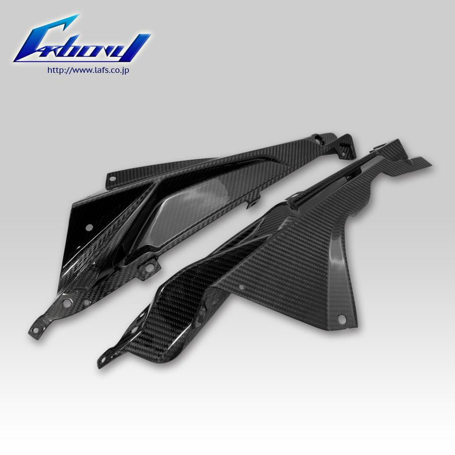 Carbony カーボニー サイドカバー ドライカーボン サイドパネル 仕上げ:ツヤ有り 仕様:ブルーカーボン S1000RR 2010-2011