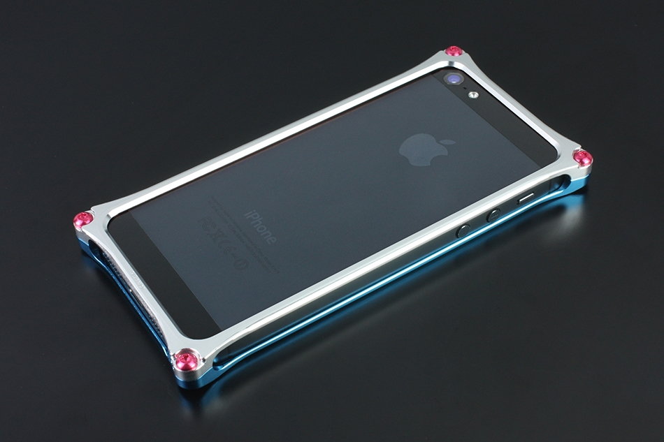 【ポイント5倍開催中!!】Solid Bumper [ソリッドバンパー] for iPhoneSE/5s/5 (EVANGELION Limited) [エバンゲリオン] カラー:ライトブルー/シルバー(REI MODEL:綾波レイ) [商品コード:GIEV-262REI]
