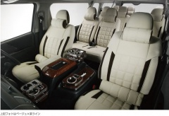 オグショー OGUshow シートカバー 【ブランド:LEGANCE(レガンス・ジェイクラブ)】200系ハイエース ワッフルシートカバー ラムース カラー:ベージュ×ブラックライン 車種・グレード:3型後期・4型 S-GL