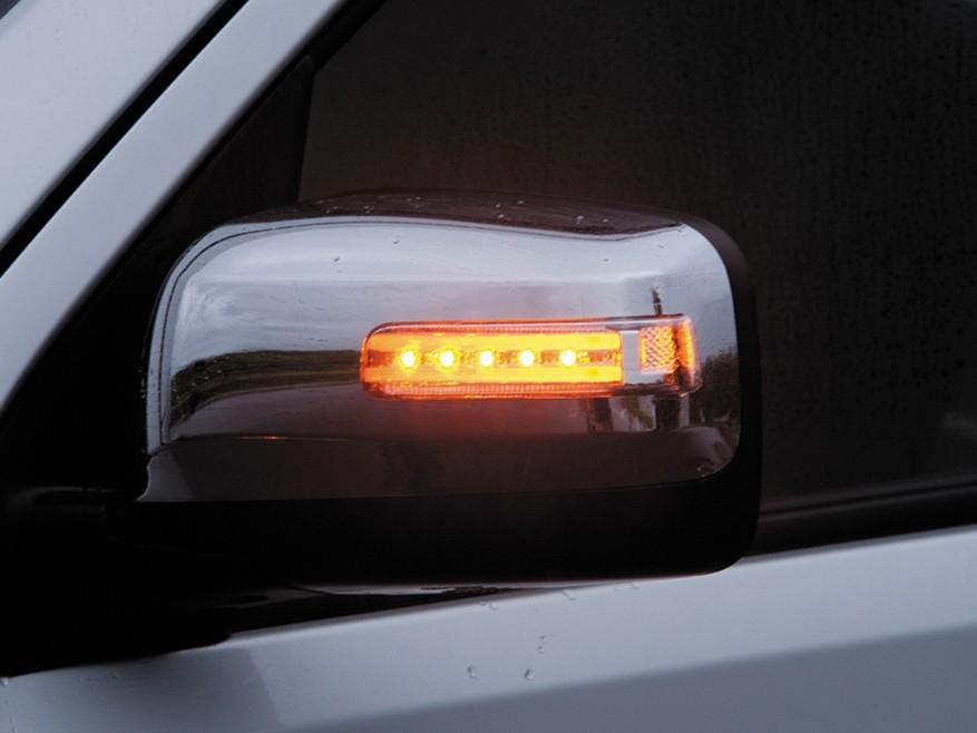 トランポ用品 【ブランド:VALENTI(ヴァレンティ・バレンティ)】JEWEL LED ドアミラーウィンカー ドアミラーカバー:スーパーブラック(KH3) レンズインナーカラー/マーカーカラー:ライトスモーク/ブラッククローム・ホワイトドアミラー