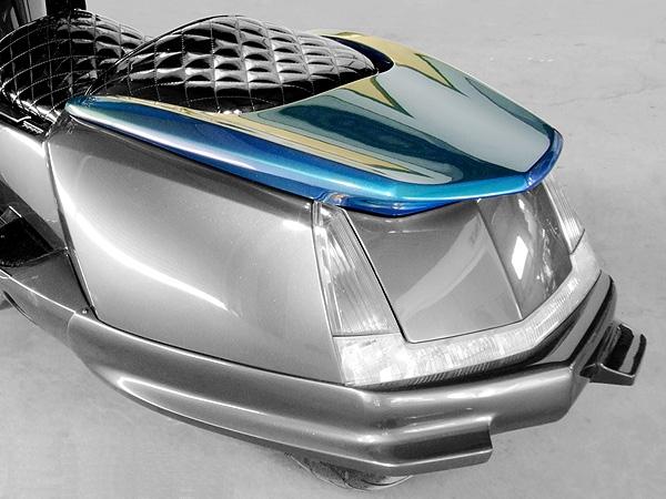 WARRIORZ ウォーリアーズ スクーター外装 マグザム用 ターボウイング タイプG カラー:ブラックメタリックX MAXAM [マグザム] (SG17J/SG21J)