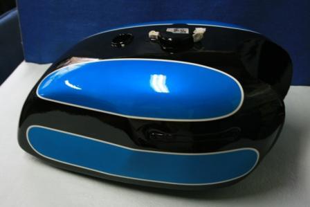 バイクペイント.com Bike Paint.com W1-SA 黒/青図面つきウレタン塗料セット W1-SA