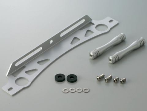 ACTIVE アクティブ オイルクーラー関連部品 ラウンドオイルクーラー用汎用ステーセット カラー:シルバー サイズ1:9インチ/サイズ2:10段