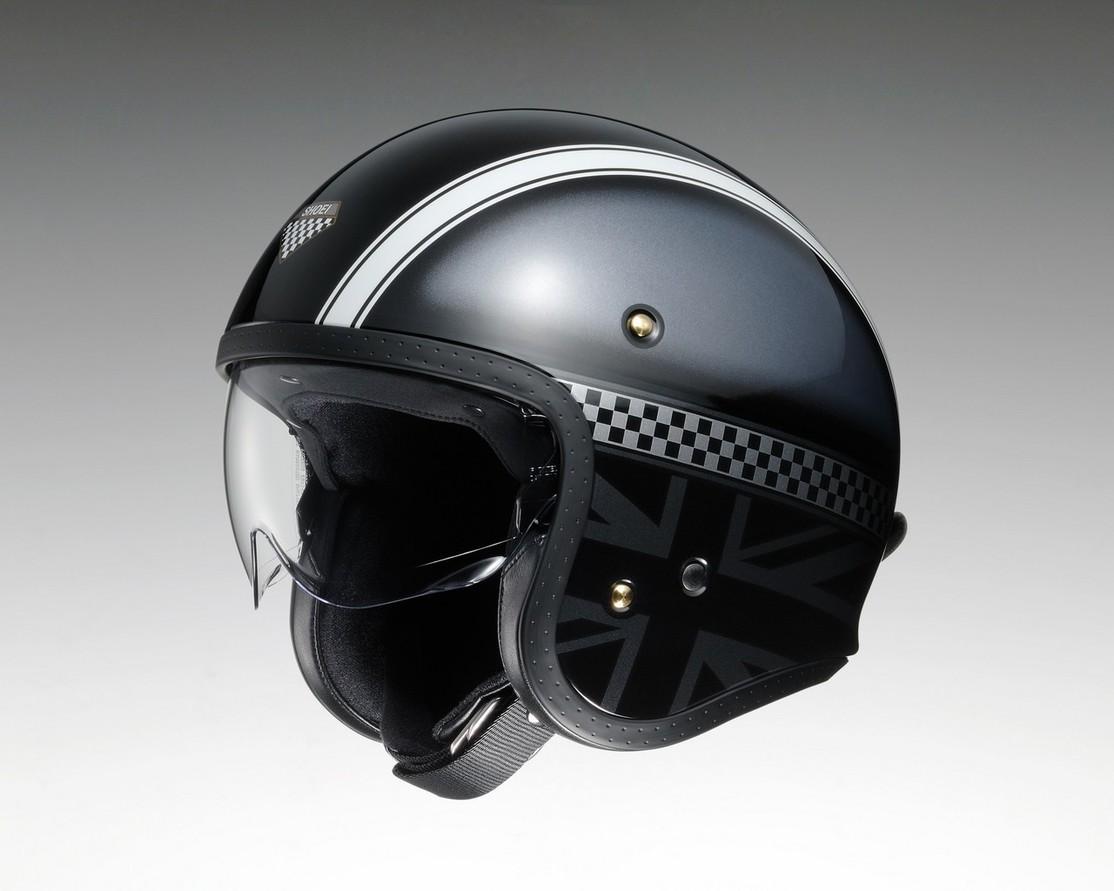 SHOEI ショウエイ ジェットヘルメット J・O HAWKER [ジェイ・オー ホーカー TC-5 BLACK/SILVER] ヘルメット サイズ:L
