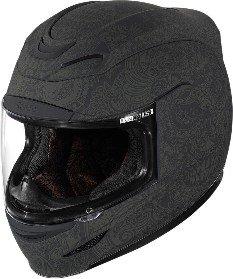 【在庫あり】ICON アイコン フルフェイスヘルメット AIRMADA CHANTILLY HELMET [エアマーダ・シャンティー・ヘルメット]【BLACK】 サイズ:M(57-58cm)