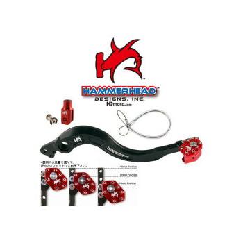 HammerHead ハマーヘッド ブレーキペダル・シフトペダル リアブレーキペダル ローテーティングティップ カラー:シルバー CRF250R CRF450R