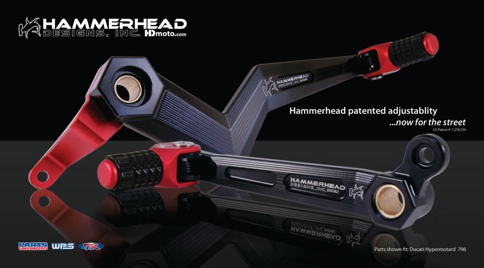 HammerHead ハマーヘッド ブレーキペダル・シフトペダル シフトペダル ラバーティップ オフセット:+20mm カラー:ブルー