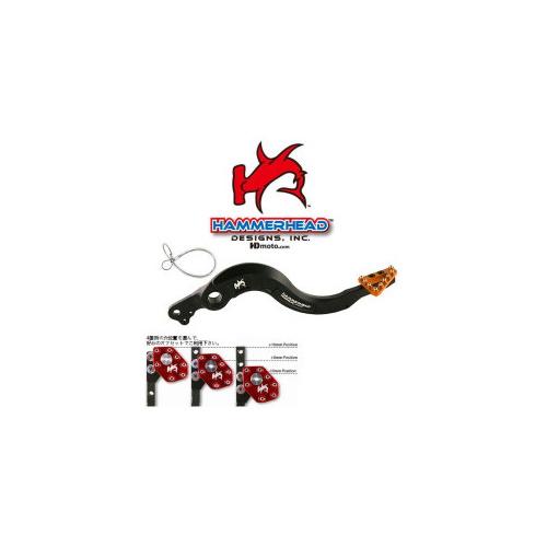 HammerHead ハマーヘッド ブレーキペダル・シフトペダル リアブレーキペダル ラージアルミティップ カラー:ブルー R1200GS