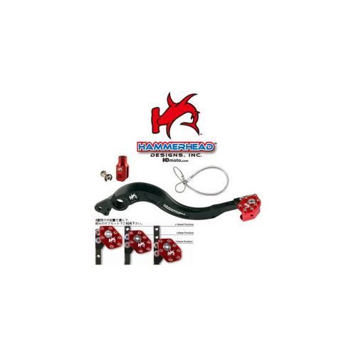 HammerHead ハマーヘッド ブレーキペダル・シフトペダル リアブレーキペダル ローテーティングティップ カラー:レッド R1200GS
