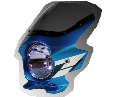 N PROJECT Nプロジェクト エヌプロジェクト ビキニカウル・バイザー ブラスターII スタンダードスクリーン カラー:グリントウェーブブルーメタリック(ウイングライン/複色仕上げ) グラフィック:なし スクリーンカラー:スモーク