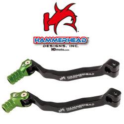 HammerHead ハマーヘッド ブレーキペダル・シフトペダル シフトペダル オフセット:+15mm カラー:グリーン KX250F