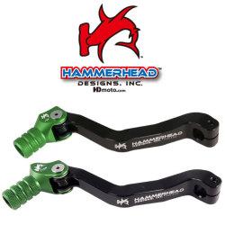 HammerHead ハマーヘッド ブレーキペダル・シフトペダル シフトペダル オフセット:+15mm カラー:グリーン KX450F