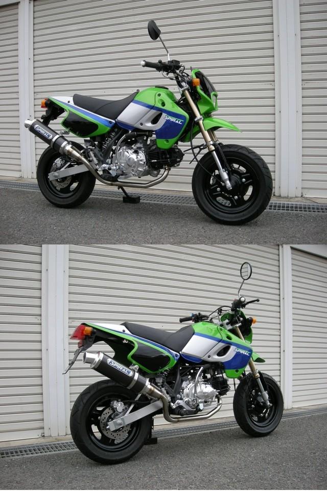 ガレージスパイラル Garage-SPIRAL フルエキゾーストマフラー 「スパイラル」STD KSR110