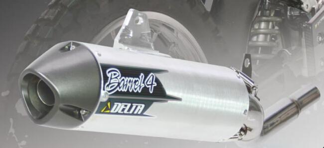DELTA デルタ スリップオンマフラー バレル4サイレンサー XLR250バハ