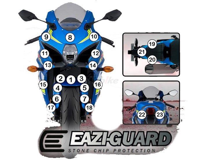 EAZI-GUARD イージーガード 車種別ストーンチッププロテクションフィルム GSXR1000