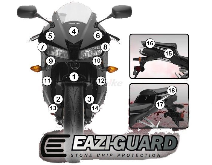 EAZI-GUARD イージーガード 車種別ストーンチッププロテクションフィルム CBR600