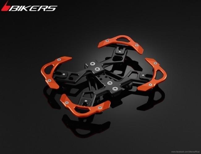 BIKERS バイカーズ ナンバープレート関連 Premium Rear Licence Support カラー:Orange LX 125 3Vie、LX 125 ie、LX 150 3Vie、LX 150 ie