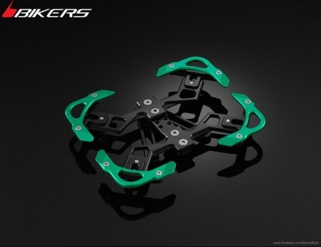 BIKERS バイカーズ ナンバープレート関連 Premium Rear Licence Support カラー:Green LX 125 3Vie、LX 125 ie、LX 150 3Vie、LX 150 ie