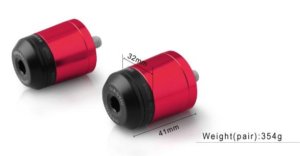 Dimotiv ディモーティヴ ガーディアン スモールバーエンドウェイト(Small Bar End Weight - Guardian) カラー:Red