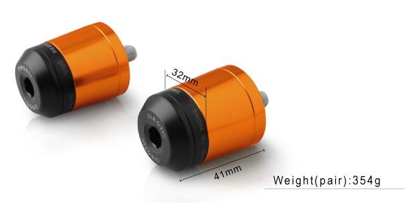 【ポイント5倍開催中!!】Dimotiv ディモーティヴ ガーディアン スモールバーエンドウェイト(Small Bar End Weight - Guardian) カラー:Orange