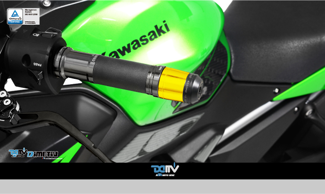 Dimotiv ディモーティヴ バーエンド Small Bar End Weight with Stabilizer - Guardian カラー:Red Z650
