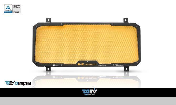 Dimotiv ディモーティヴ コアガード ラジエーターガードスタンダード(Radiator Guard - Standard) カラー:Mesh:Gold Z650 17-18