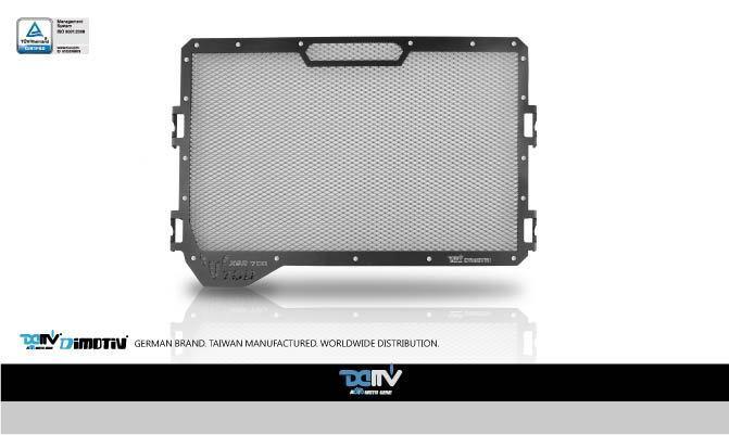 Dimotiv ディモーティヴ コアガード ラジエーターガードスタンダード(Radiator Guard - Standard) カラー:Titanium XSR 700 15-16