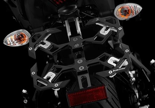 BIKERS バイカーズ ナンバープレート関連 Adjustable License Plate Support カラー:Black