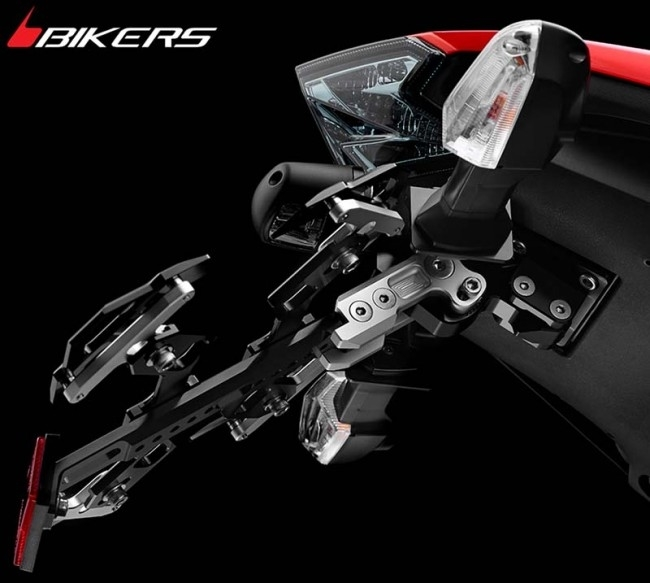 BIKERS バイカーズ ナンバープレート関連 Adjustable License Plate Support カラー:Purple Z800