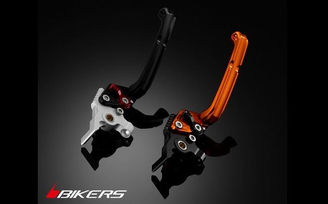 BIKERS バイカーズ 6段階調整付可倒式ブレーキレバー カラー:ライトゴールド DUKE200 DUKE390
