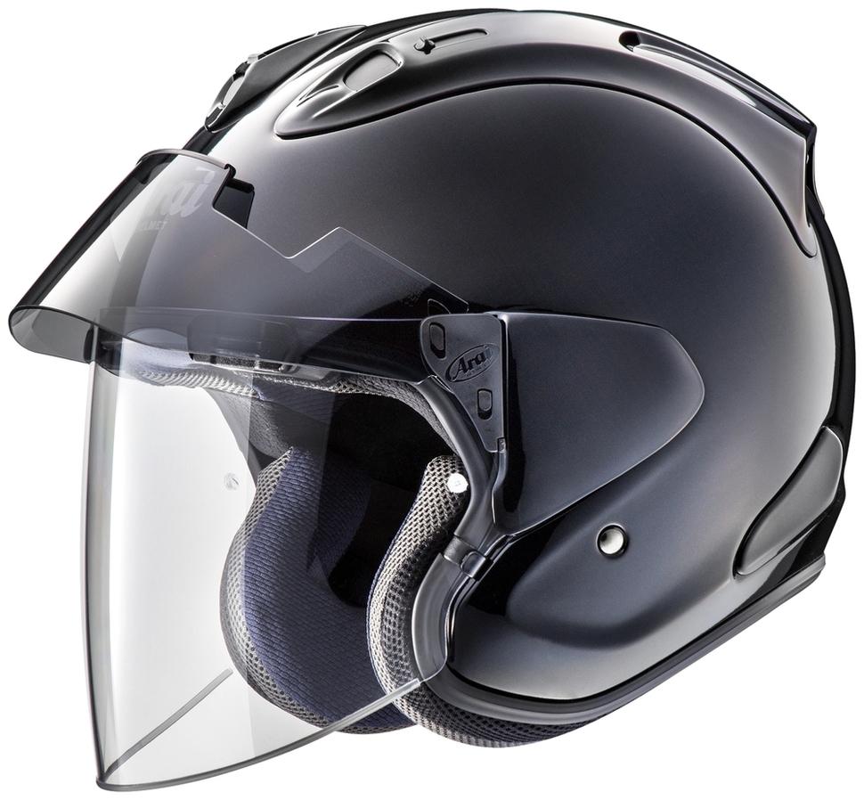 Arai アライ ジェットヘルメット VZ-Ram PLUS[ブイゼット ラム プラス グラスブラック] ヘルメット サイズ:M(57-58cm)