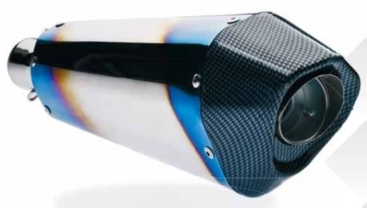 FAR エフエーアール ミラー バッフル・消音装置 レーシング汎用エキゾーストシステム【RACING UNIVERSAL -Exhaust】