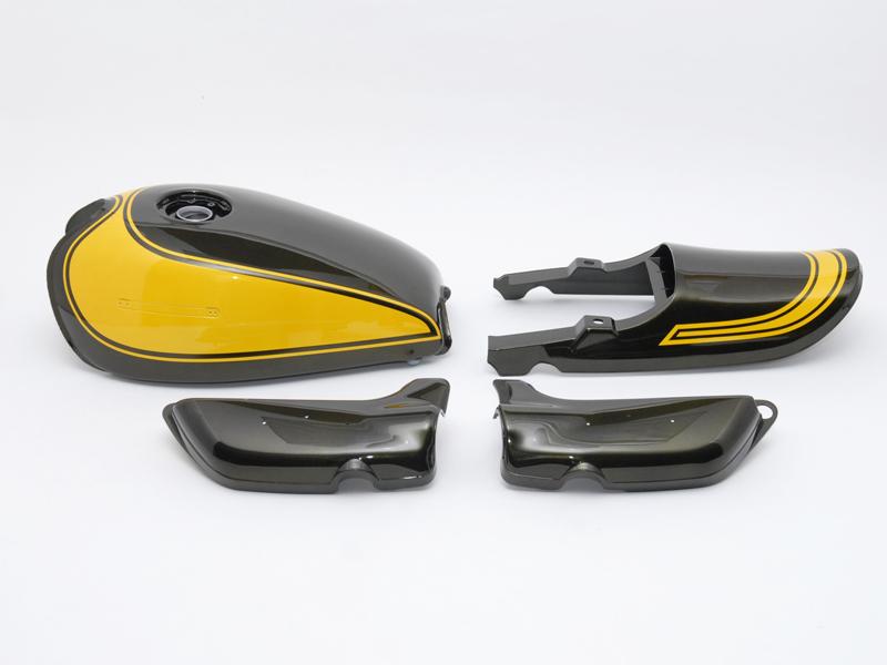 【イベント開催中!】 DOREMI COLLECTION ドレミコレクション フルカウル・セット外装 塗装済みスチールタンクセット A/P(エアプレーンキャップ仕様) タンクカラー:イエローボール Z1/Z2