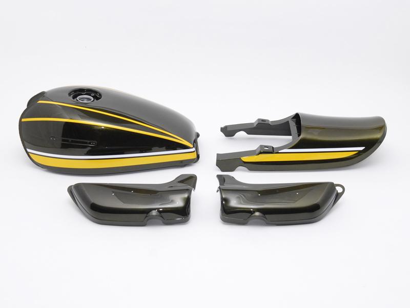 【イベント開催中!】 DOREMI COLLECTION ドレミコレクション フルカウル・セット外装 塗装済みスチールタンクセット A/P(エアプレーンキャップ仕様) タンクカラー:黄タイガー Z1/Z2
