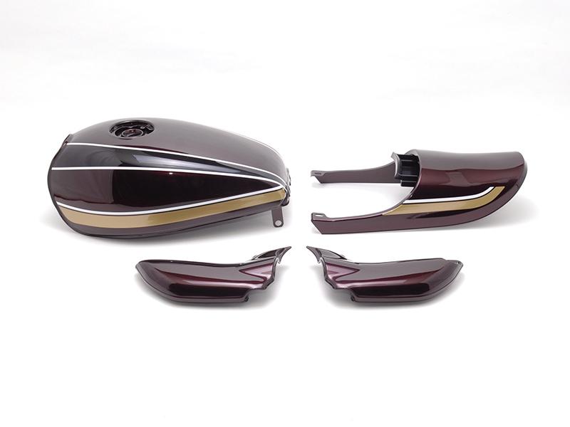 DOREMI COLLECTION ドレミコレクション フルカウル・セット外装 塗装済みスチールタンクセット タンクカラー:茶玉虫 ZEPHYR750