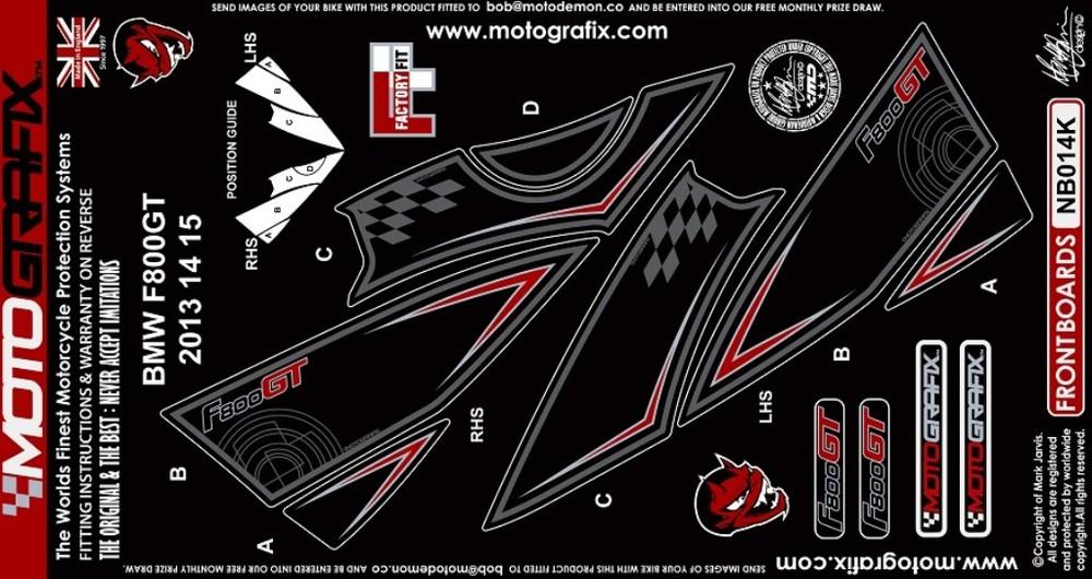 【ポイント5倍開催中!!】MOTOGRAFIX モトグラフィックス ステッカー・デカール ボディーパッド カラー:ブラック F800GT