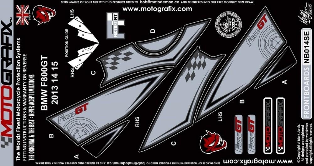 【ポイント5倍開催中!!】MOTOGRAFIX モトグラフィックス ステッカー・デカール ボディーパッド カラー:シルバー/グレー F800GT