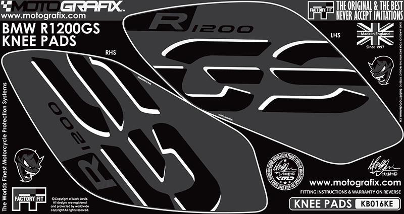 【ポイント5倍開催中!!】MOTOGRAFIX モトグラフィックス ステッカー・デカール ボディーパッド カラー:ブラック/グレー R1200GS